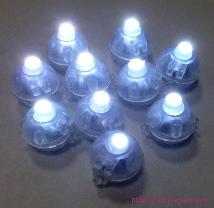 Подсветка в шар Белого свечения, Круглая