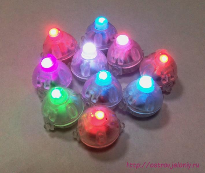 Подсветка в шар Разноцветная (мигающая), Круглая