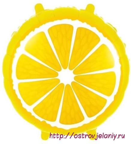 Шар (18''/46 см) Круг, Лимон, Желтый