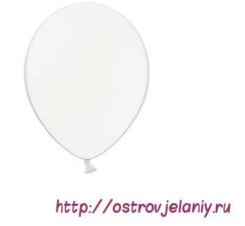 Шар (10''/25 см) Белый, пастель