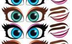 """Наклейки """"Глаза. Рты №1"""", 6 компл. на листе"""