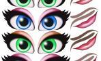 """Наклейки """"Глаза. Рты №2"""", 6 компл. на листе"""