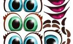 """Наклейки """"Глаза. Рты №6"""", 6 компл. на листе"""
