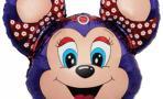 Воздушный шар (14''/36 см) Мини-фигура, Бабси-Маус, Фиолетовый