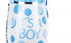 Воздушный шар с клапаном (16''/41 см) Мини-фигура, Бутылочка для малыша, Голубой