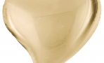 Шар (18''/46 см) Сердце, Изгиб, Белое Золото