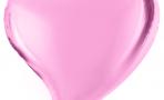 Шар (18''/46 см) Сердце, Изгиб, Розовый