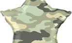 Воздушный шар (18''/46 см) Звезда, Камуфляж, Зеленый
