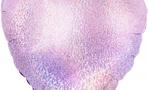 Шар (18''/46 см) Сердце, Розовый голография
